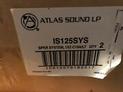 4 Atlas Sound Ceiling Speakers 1' X 2' Drop Tile Is125sy Dt12 ☆ New Old Stock ☆