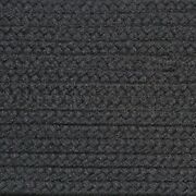 Solid Charcoal Gray Country Braided Area Rugs By Colonial Rug-many Sizes 137