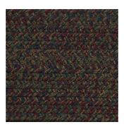 Burgundy Blue Green Brown Braided Area Rugs By Colonial Rug--many Sizes 474