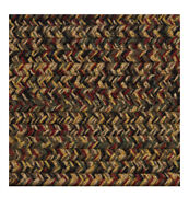 Green Red Black Goldbrown Braided Area Rugs By Colonial Rug--many Sizes 478