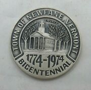 1774-1974 Town Of Newfane Vermont Sterling Silver Medal/coin T1163