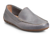 Nib Born Allan Casual Slip On Leather Loafer Shoes In Grey