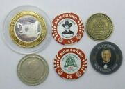 6 Vintage Assorted Mixed Lot Casino Slot/tokens/chips/coins