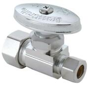 Brasscraft 1/2 In. Nominal Compression Inlet X 3/8 In. O.d. Compression Outle...