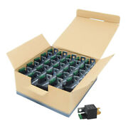 25-pack Fused Relay 12v 30a/40a 5-pin Auto Metal Mounting Tab Spst Built In Fuse