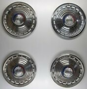 1963 Ford Galaxie Lot Of 4 Hubcaps 14 Inch P/nand039s C3aa-1a018-a Wheel Covers