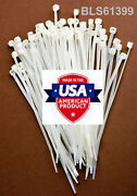 100 Usa Made Tough Ties 15 Inch 50lb Nylon Tie Wraps Wire Cable Zip Ties White