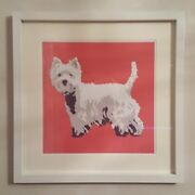 Westie Dog Print By Betty Boyns - 30 Cm Sq - Lovely Item For The Home-uk Seller