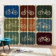 History Of Cycling 3d Curtain Blockout Photo Printing Curtains Drape Fabric