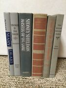 Decorative 6 Silver Gray Vintage Book Lot Display Staging Prop Library Ab22