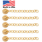 Gold Mesh Swivel And Chain Dental Impacted Cuspid Eruption Appliance Quantity 5