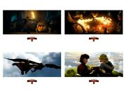 Dragons Fire Hiccup Astrid Toothless How To Train Your Dragon Fine Art Prints