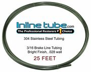 Stainless Steel Brake Line Tubing Kit 3/16 Od 25and039 Foot Coil Roll An 45 Flare Sae