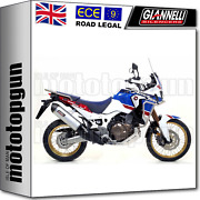 Giannelli Full System Exhaust Oval C T Honda Africa Twin Adventure Sport 2018 18