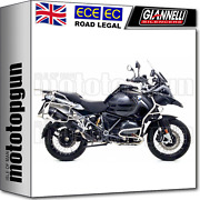 Giannelli Full System Exhaust Homcat Maxi Oval Carby Black Bmw R 1200 Gs 2017 17