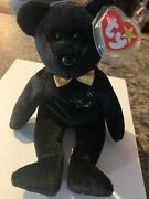 The End Teddy Bear Ty Beanie Baby Rare First Addition With Halogram Tag And No Bd
