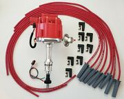 Ford 351c 400 429 460 Red Hei Distributor + 8.5mm Universal Spark Plug Wires Usa
