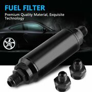 Hot Sale An6 An8 Inline Fuel Filter High Flow 100 Micron Cleanable Kits Black