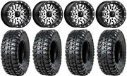 Msa Brute Beadlock 14 Atv Wheels 30 Chicane Rx Tires Yamaha Grizzly Rhino