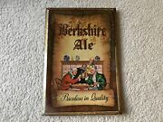 Berkshire Ale Vintage Tin Over Cardboard Sign, Old Reading Brewery