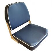 Lindemann Classic Foldable Helm Seat Blue With White Piping