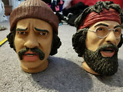 Lot Pop Cheech And Chong Up In Smoke Plush Dolls Neca Bobble Heads Record Man Cave