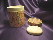 Dusting Powder Le Parfum Ideal Houbigant In Decorative Flower Container