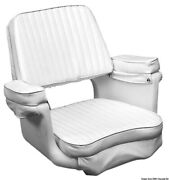 Osculati Comfortable White Polyethylene Armchair With Removable Cushions