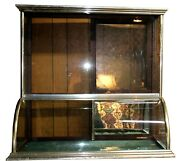 Flat-top Nickel And Glass Jewelry Bakery Display Case For Stores