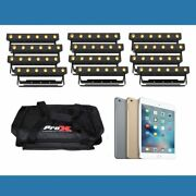 12 Ezlink Strip Q6 Bt Lighting Package With Ipad Mini 4 And Carry Bags