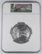 2011 P Chickasaw America The Beautiful 5 Oz Silver Coin Sp70 Ngc Early Releases