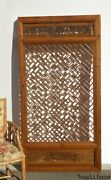 Antique Asian Chinese Carved Chinoiserie Door Panel Wall Hanging
