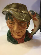 Large Royal Doulton The Poacher Toby Jug D6429 Fisherman Collectible Gift