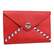 Brand New Airlines Red Leather Pouch A82464 Y25399