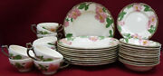 Franciscan China Desert Rose England Pattern 60-piece Set For 12 W/ Cereal Bowls