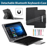 For 7 8 10 10.1 Tablets Black Pu Leather Case Bluetooth Keyboard Stand Cover