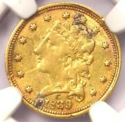 1839-c Classic Gold Quarter Eagle 2.50 - Ngc Xf Details - Charlotte Coin