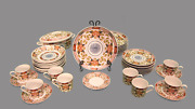 Georges Briard Peony Authentic Reproduction Of 19th Century Japanese Porcelain