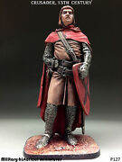 Tin Toy Soldiers Crusader 13century 54mm Figurine Metal Sculpture In Stock