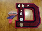 1950s Iowa Blue Devils High School Medals Awards And Football Homecoming Pin