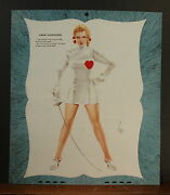 Varga Valentine Calendar Page February 1947 Steel The Heart Of Gay Young Blade