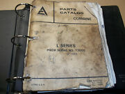 Allis Chalmers L Series Combines Parts Book-sold As Is