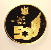 Israel 2005 Air Force 50 Flying Course Gold Plated Award Medal Very Rare