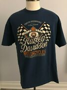Harley-davidson Motorcycles / Flags T-shirt - Sz Xl - Contra Costa County Ca