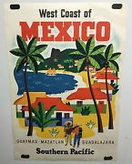 Original Vintage Travel Poster Southern Pacific Railroad Mexico Ray Bethers
