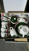 Stangl Pottery Thistle Cups Saucers Creamer