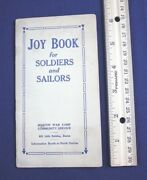 Antique Ww1 Booklet 1918 Soldiers Sailors Joy Book Army Navy Military Boston Map