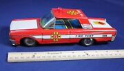 Vintage Toy Car Ford Fire Chief Friction Fd Japan 9 Auto Tin Metal Plastic