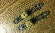Beautiful Pair Of Antique Rack Pulleys For Opening Window Blind Cords