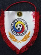 Pennant And Pin Soccer Romania National Team From Match Israel Vs Romania Dec 1994